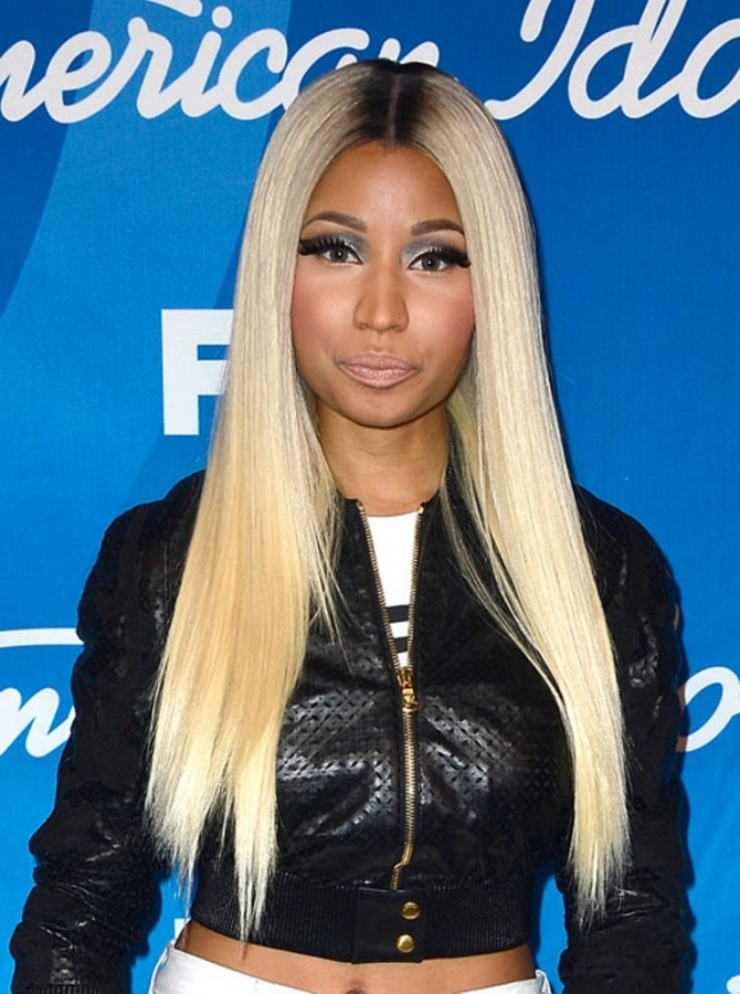 Long Rooted Blonde Straight Lace Front Wig Human Hair