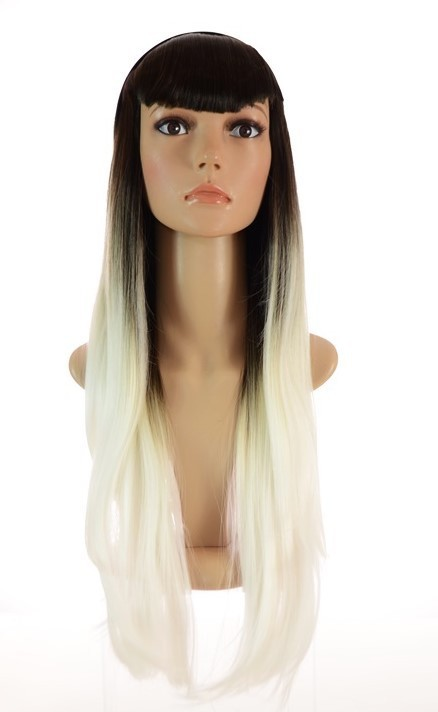 Ombre White Long Wig